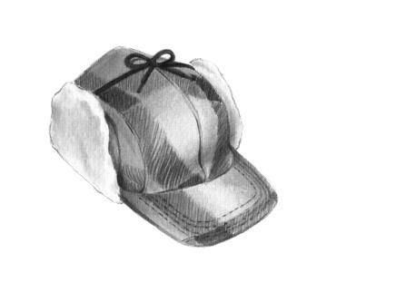 """… il portait le même chapeau à oreillettes que le héros adolescent, et ce, bien qu'il ait été un quadragénaire 'déjà bien en chemin vers la fausseté."" // ""…usaba el mismo sombrero con orejeras que el héroe adolescente, aún cuando era un cuadragenario 'ya bien encaminado hacia la falsedad."" (Daniel Canty, Wigrum, La Peuplade, 2011)."